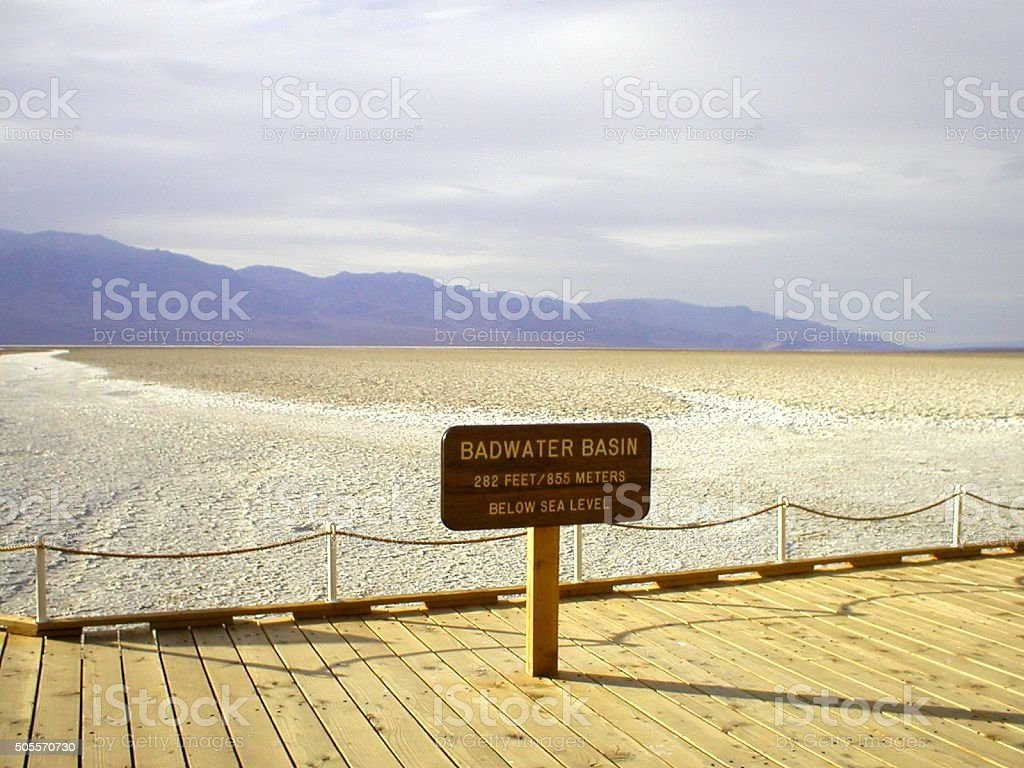 Badwater, Death Valley - California stock photo