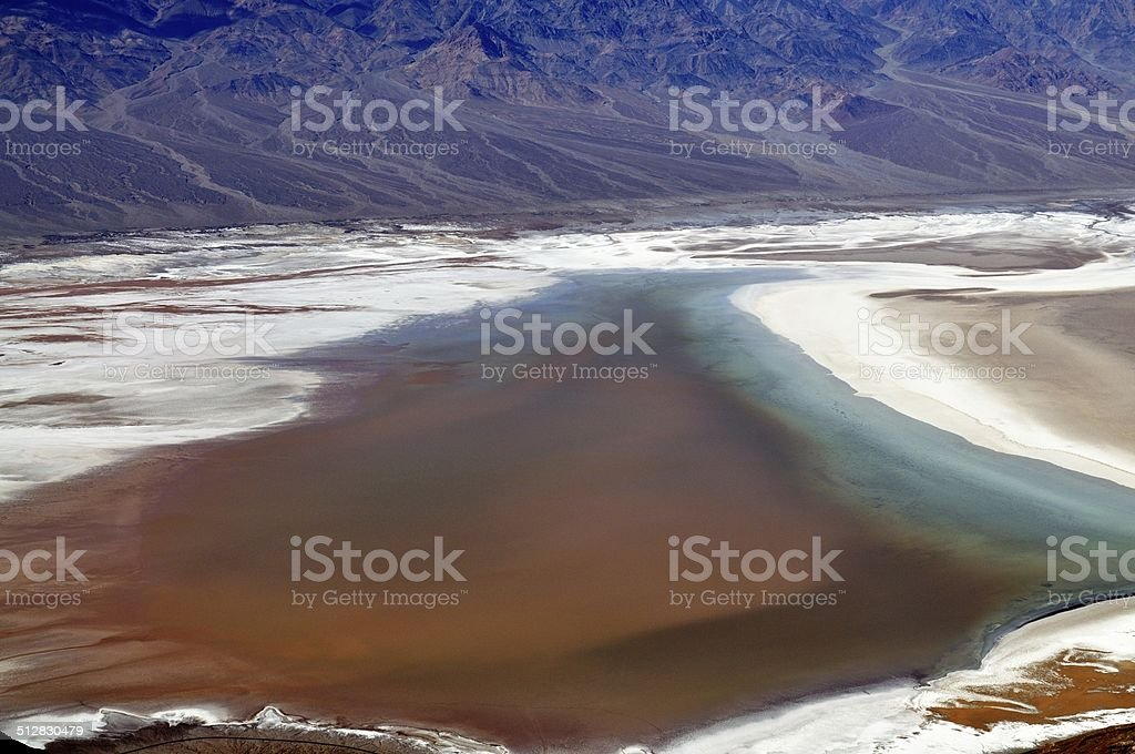 Badwater - Death Valley National Park, California USA. stock photo