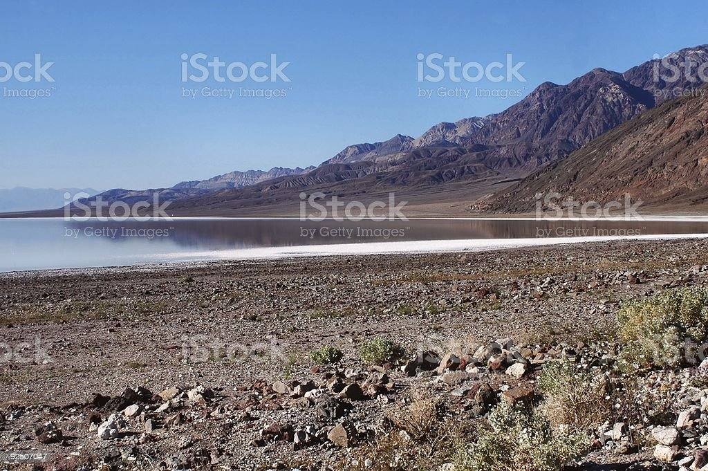 Badwater Lake royalty-free stock photo