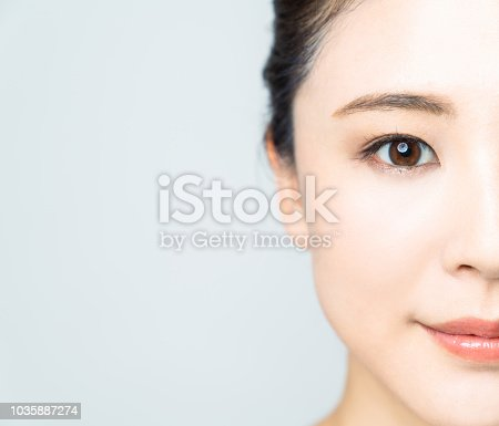 istock Baeuty concept of young asian woman. 1035887274