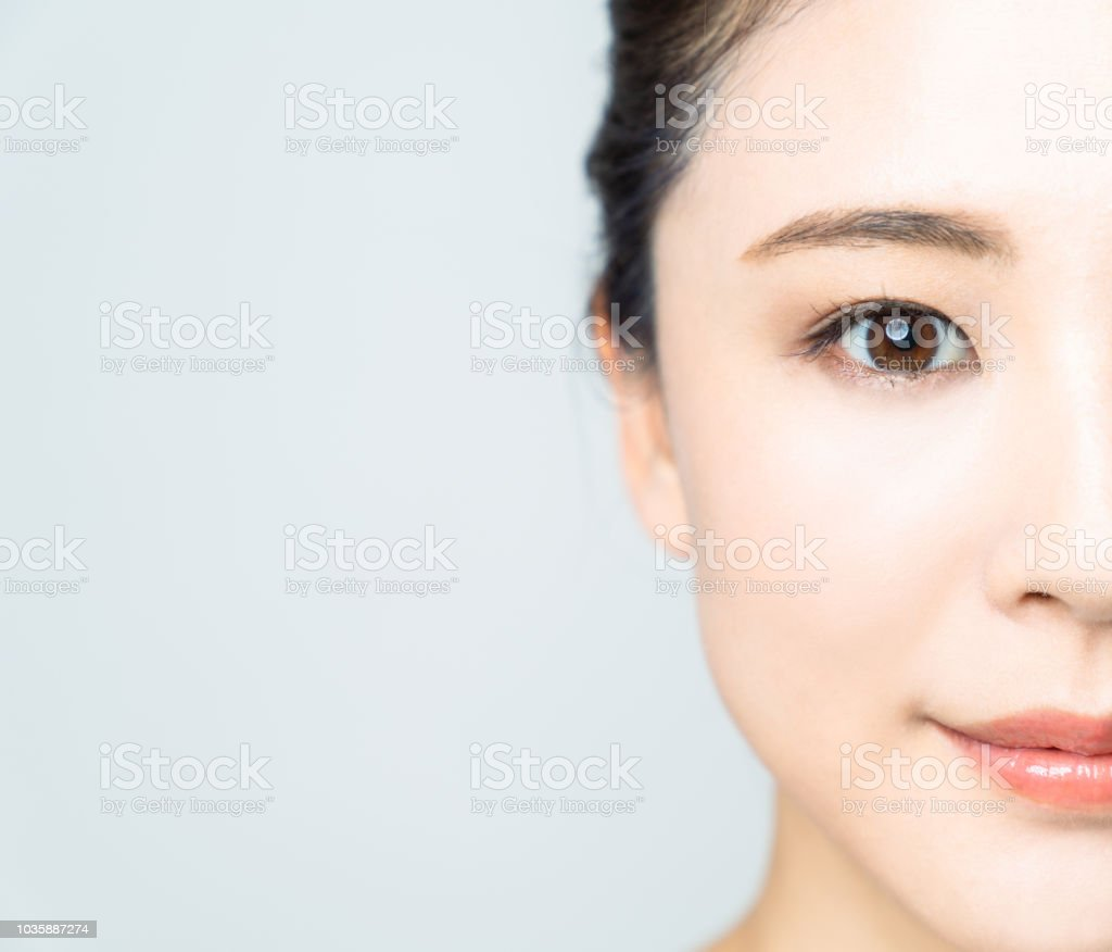 Baeuty concept of young asian woman. stock photo