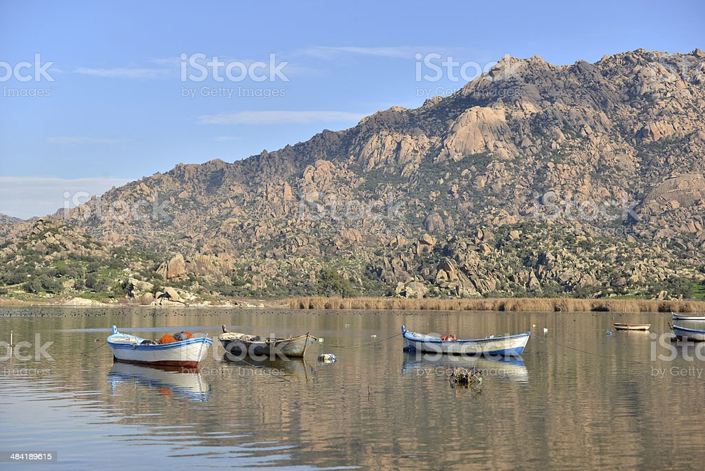 Bafa Lake - Aydin - Turkey royalty-free stock photo