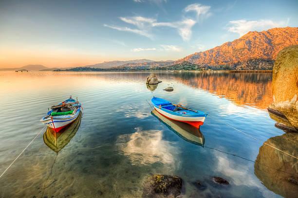 Bafa Lake, Turkey stock photo