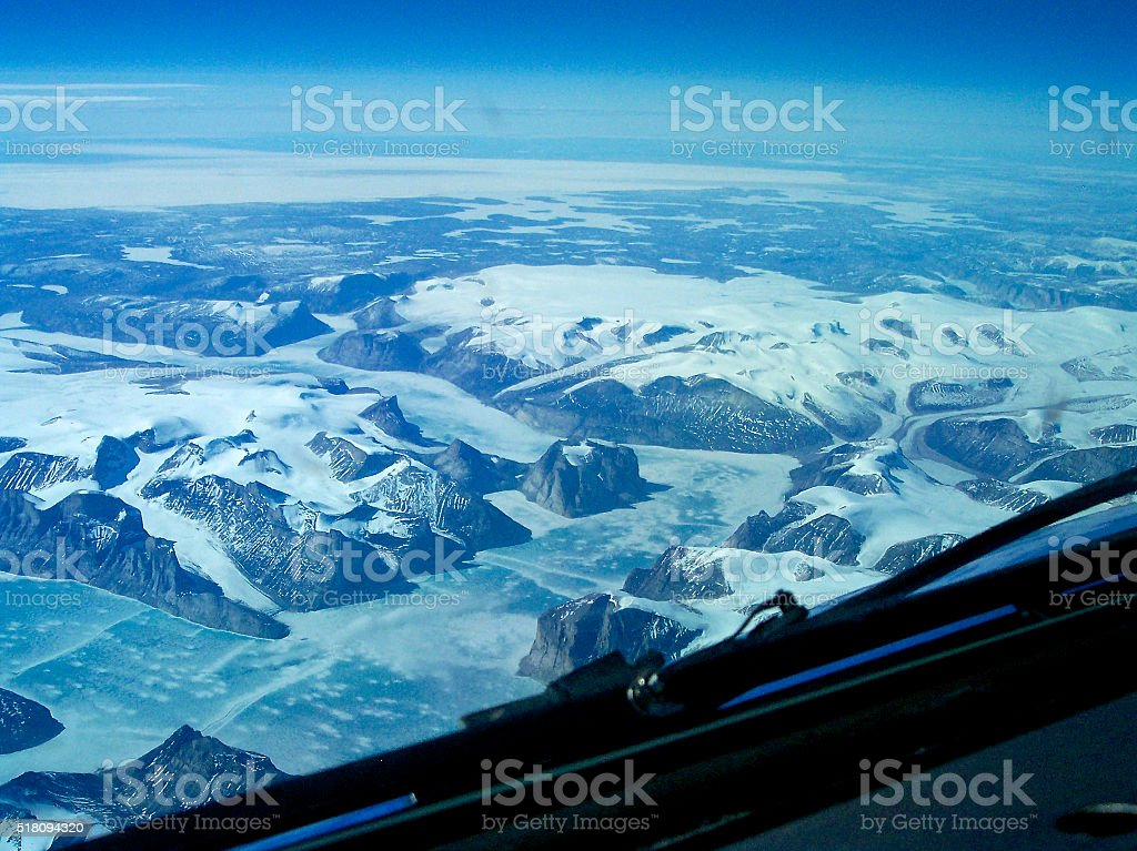 Baffin Island Glacier stock photo