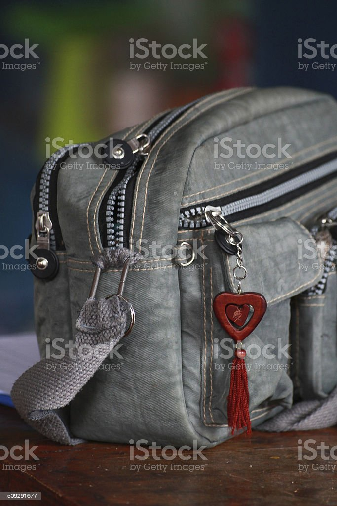 bag and it's decorations stock photo