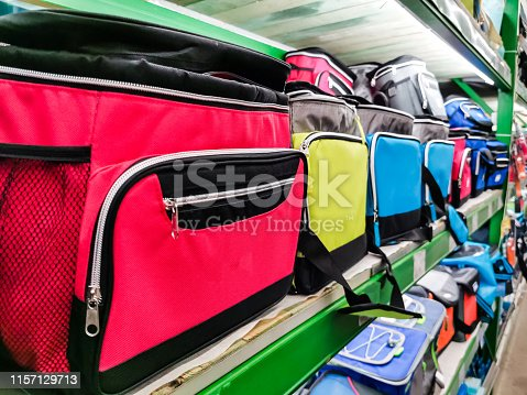 istock Bag cooler bright green for carrying and storing products 1157129713