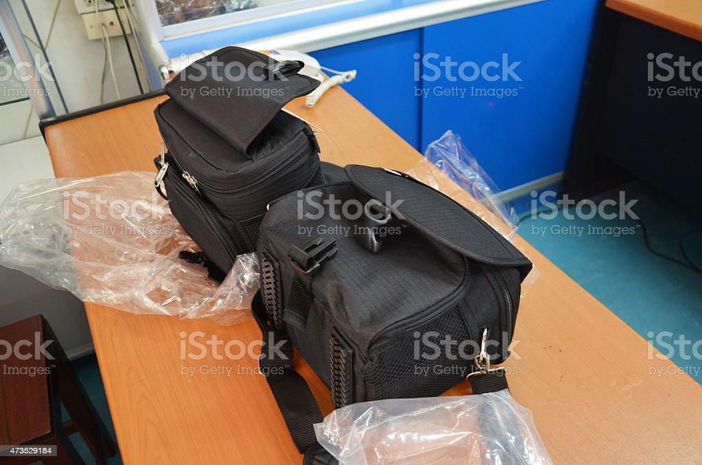Bag Digital Camera stock photo