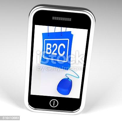 B2C Bag Displaying Business to Customer Online Buying