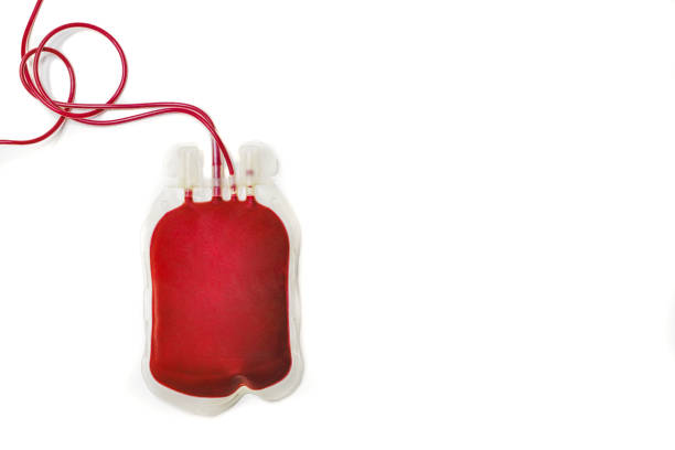 bag filled with fresh red blood - blood donation stock pictures, royalty-free photos & images