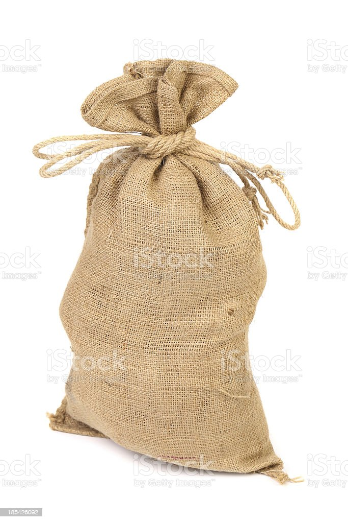 Bag from a sacking isolated royalty-free stock photo