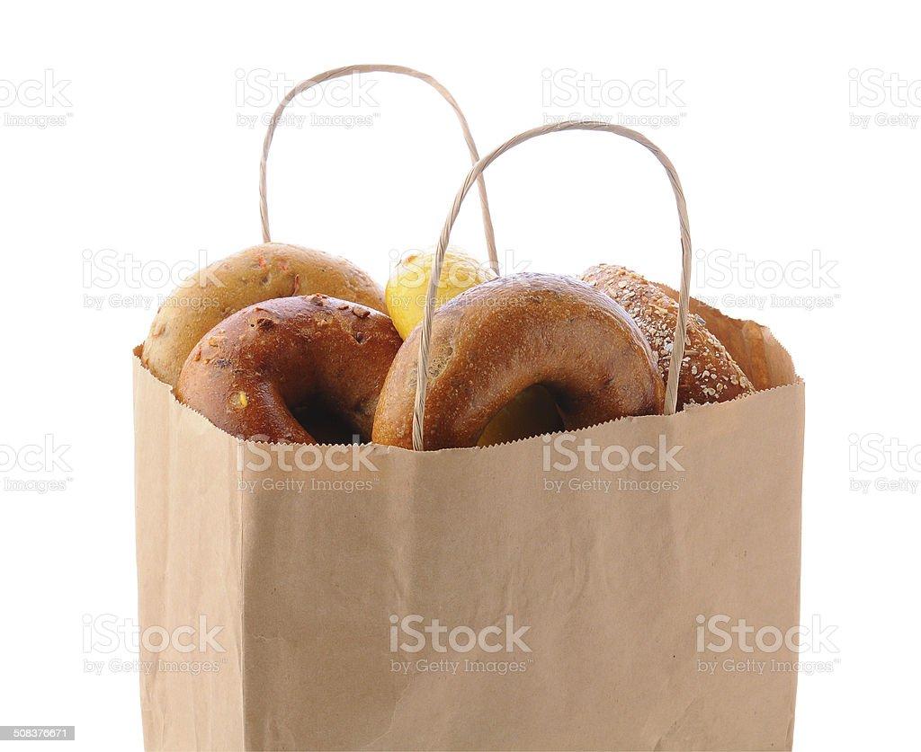 Bag Full of Bagels stock photo
