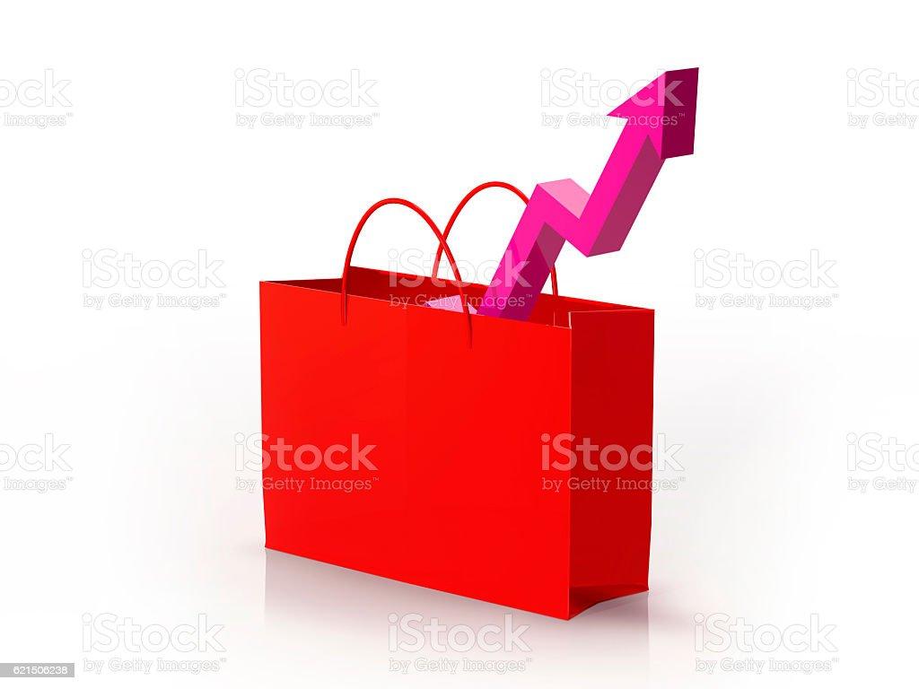 Bag graph foto stock royalty-free