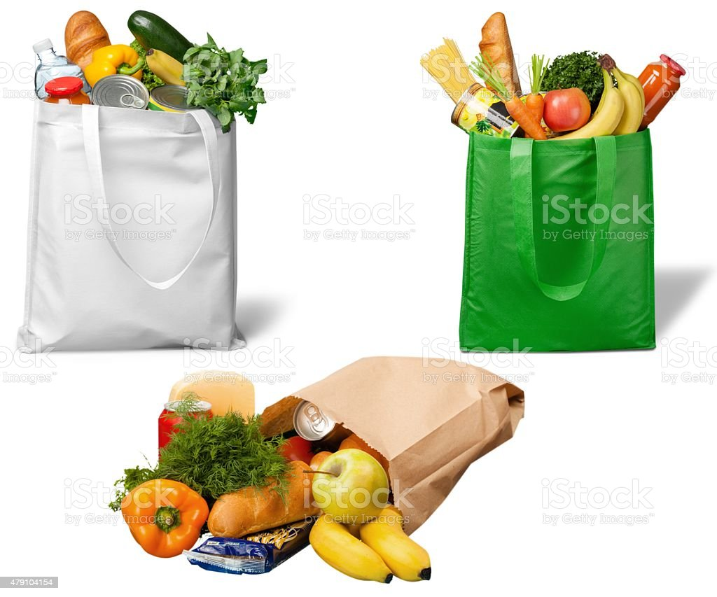 Bag, Groceries, Recycling stock photo