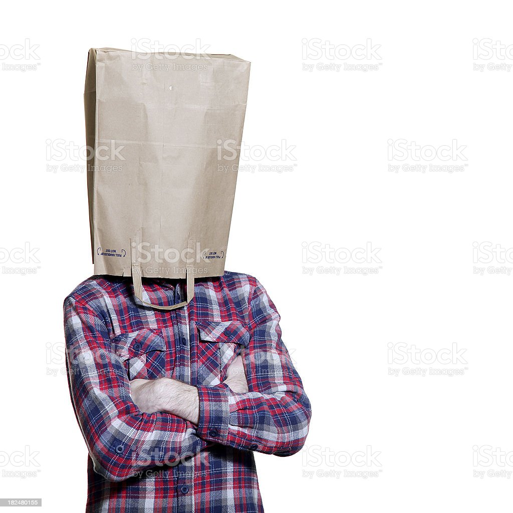 Bag Head Man royalty-free stock photo