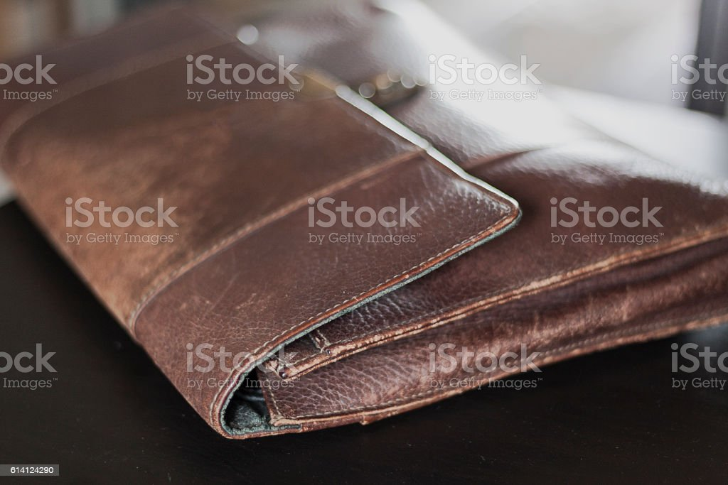 bag leather stock photo