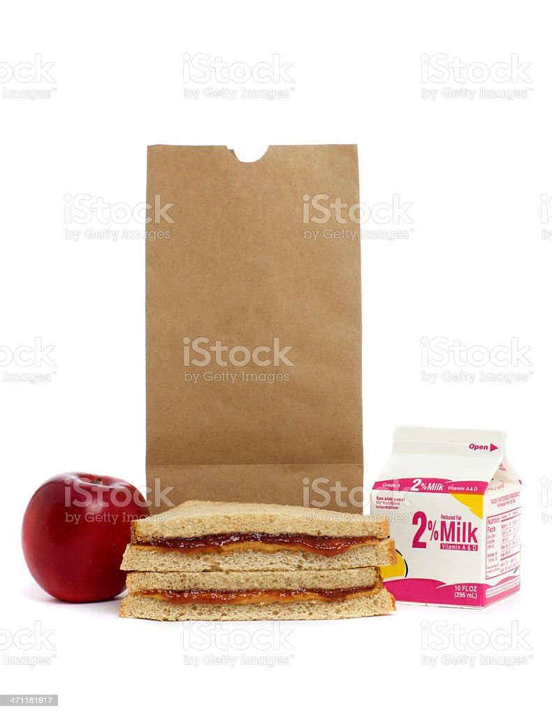 Bag Lunch royalty-free stock photo