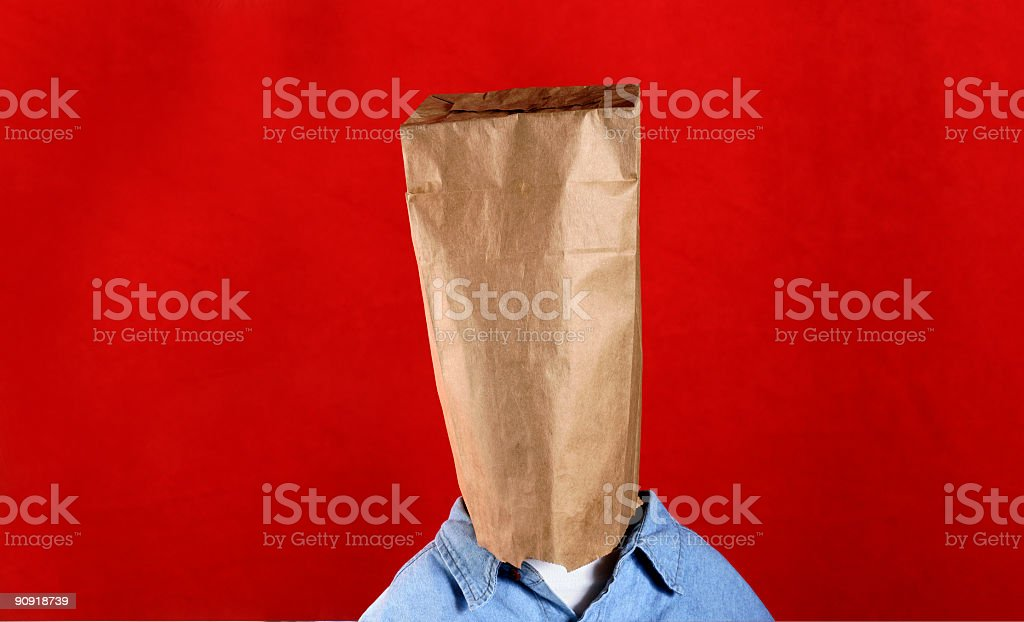 Bag Man royalty-free stock photo