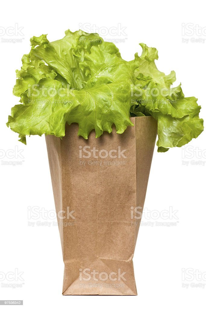 Bag of butter lettuce royalty-free stock photo
