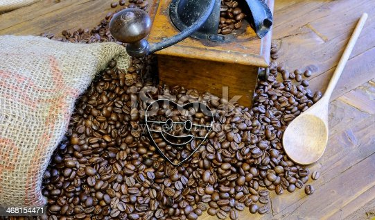 istock Bag of coffee beans. 468154471