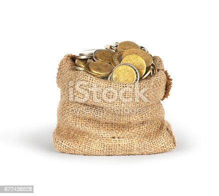 istock Bag of coins 672438528