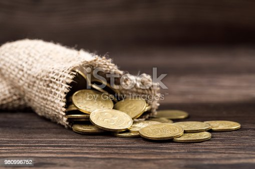 482747823istockphoto bag of coins 980996752