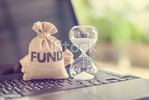 Time value of money, long term equity fund investment for sustainable growth, financial concept
