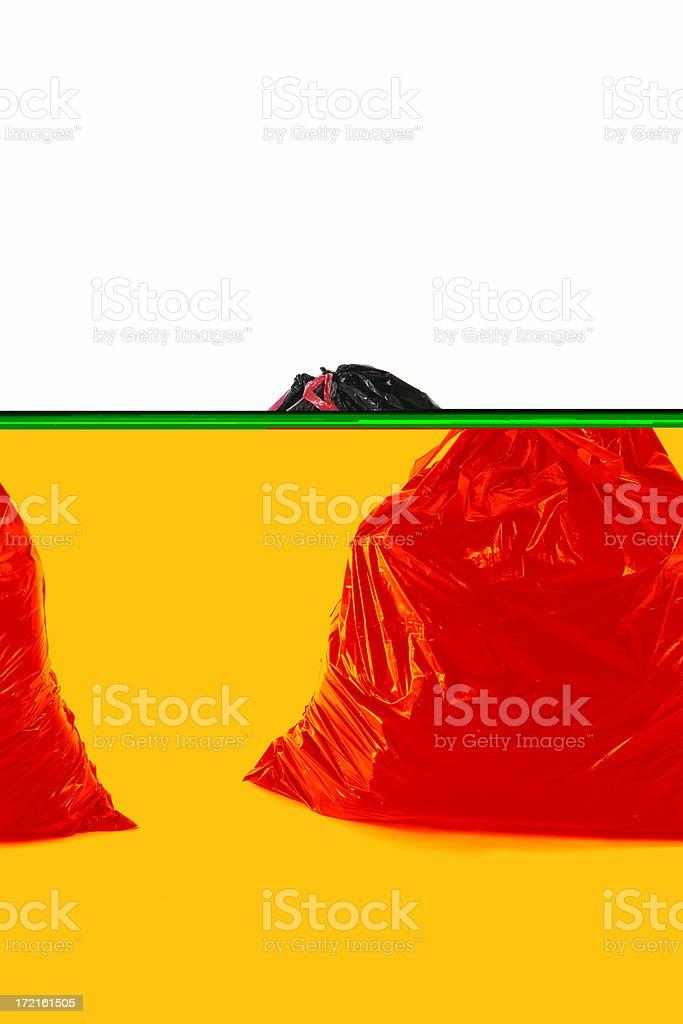Bag of Garbage royalty-free stock photo