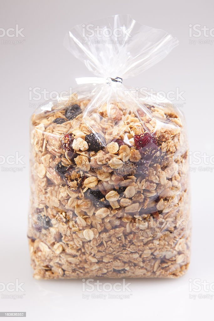 bag of granola royalty-free stock photo