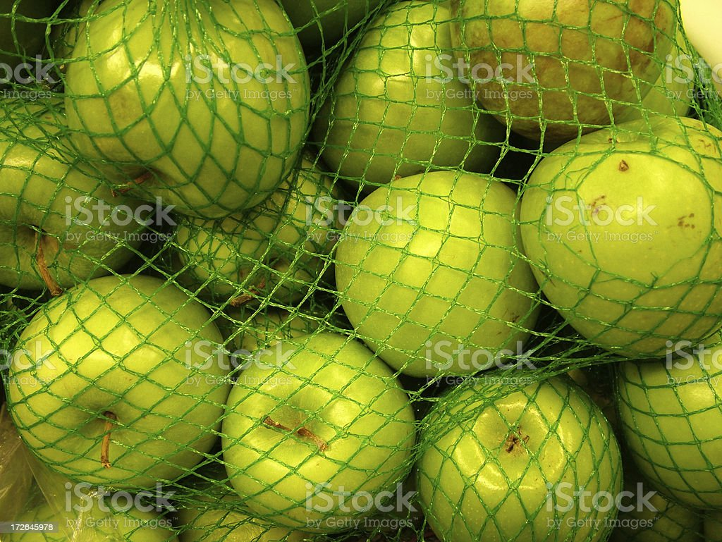 Bag of Green Apples stock photo