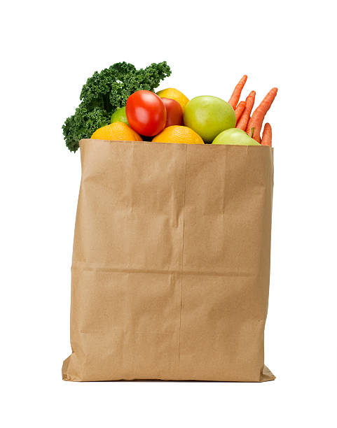 Bag of Groceries Bag full of fruits and vegetables.  Please see my portfolio for other food related images. bag stock pictures, royalty-free photos & images