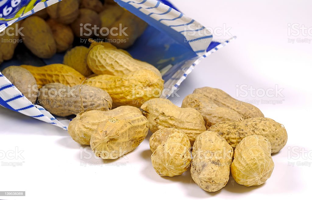 Bag of Nuts royalty-free stock photo