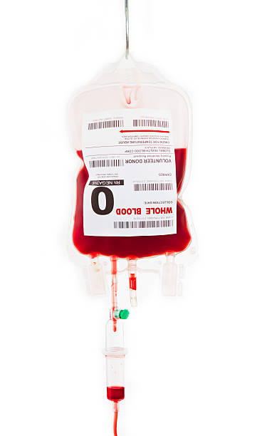 A bag of O type blood for an ic stock photo