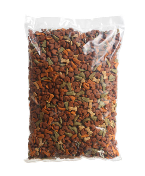 Bag of pet food stock photo