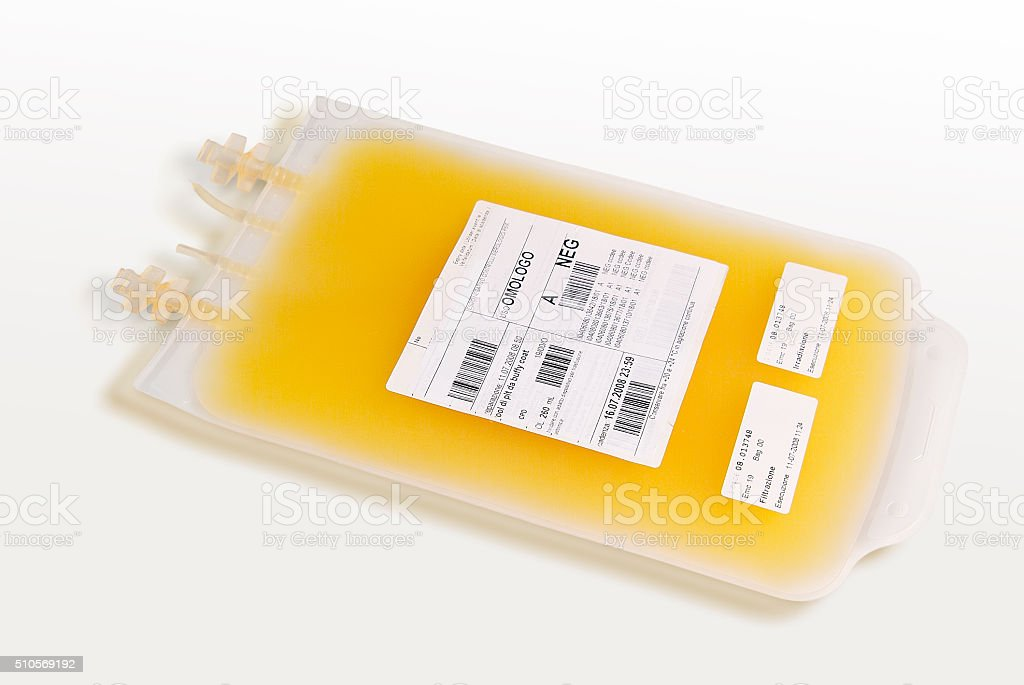 Bag of plasma stock photo
