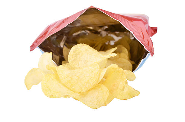 bag of potato chips - crisp packet stock photos and pictures