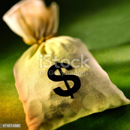 istock Bag of US coins.. 474014350