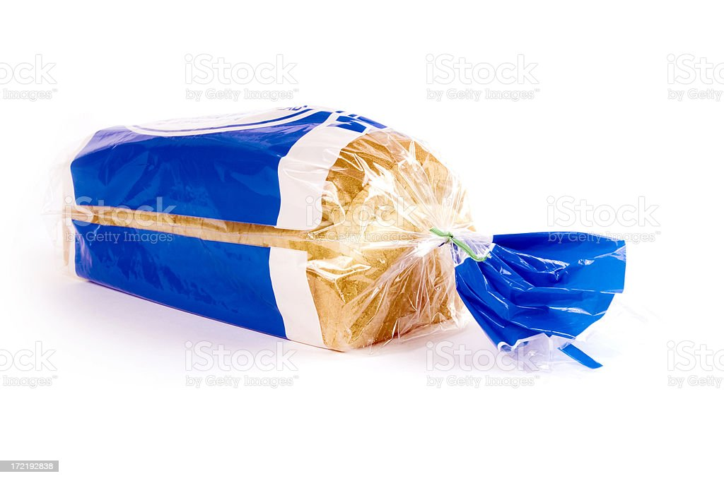 Bag of White Bread Front stock photo
