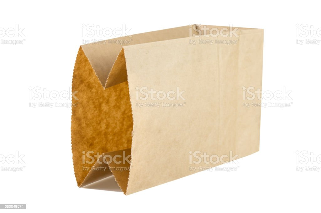 bag paper on white background. royalty-free stock photo