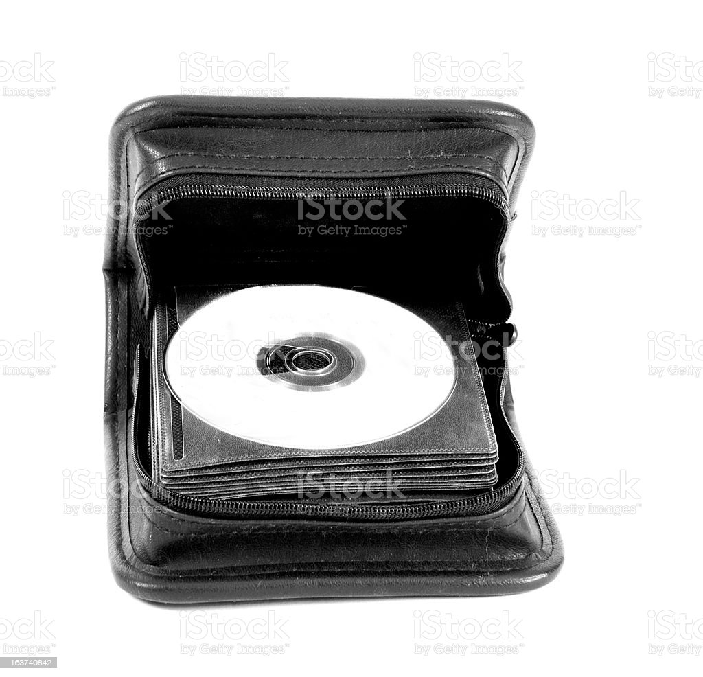 CD/DVD bag royalty-free stock photo