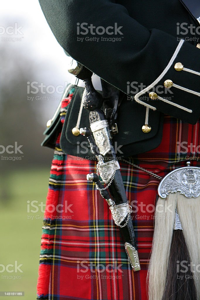 Bag Pipers Knife stock photo