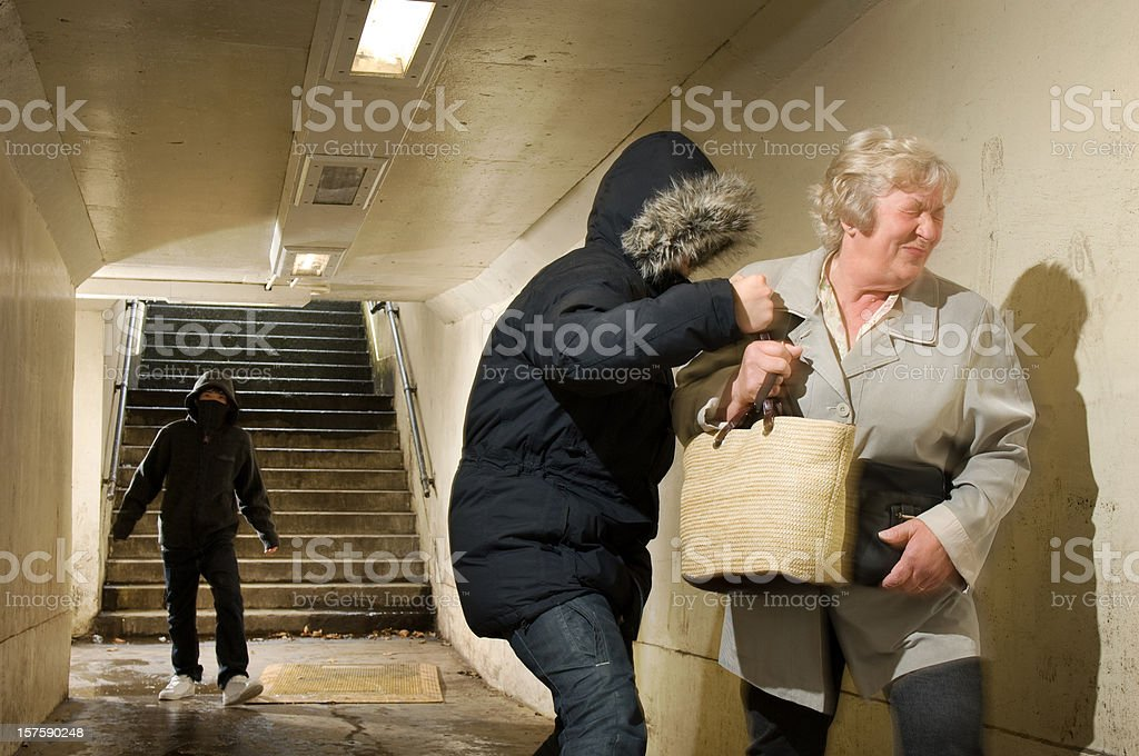 bag snatch royalty-free stock photo
