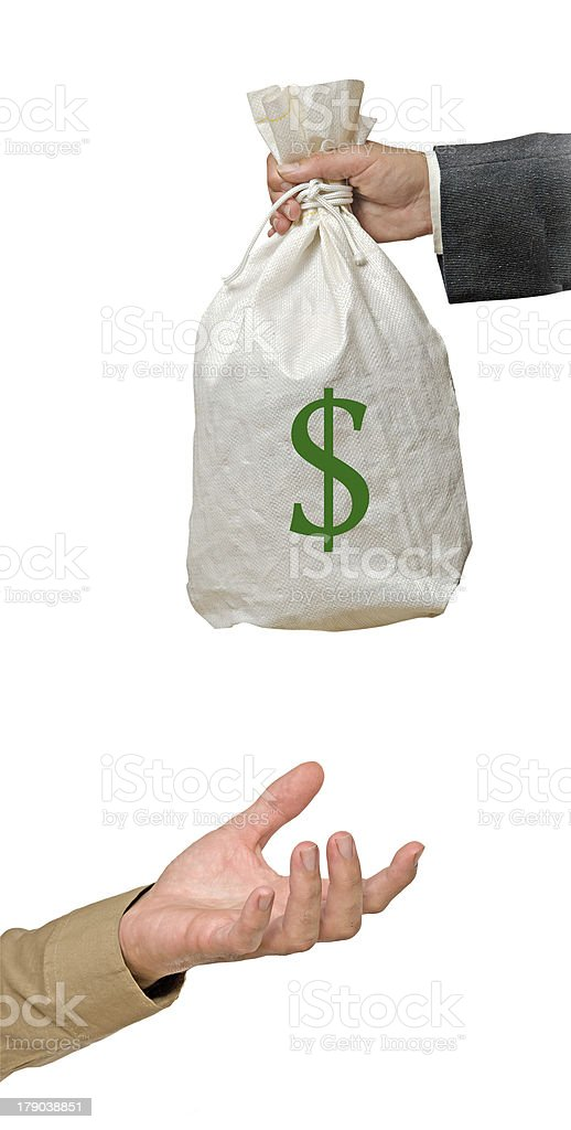 Bag with dollars royalty-free stock photo