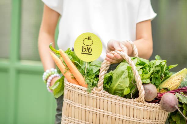 新鮮蔬菜袋 - 有機食品 個照片及圖片檔