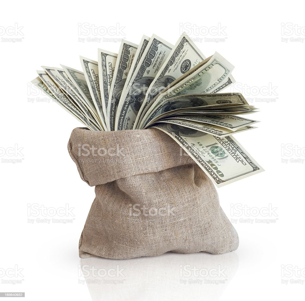 Bag with money stock photo