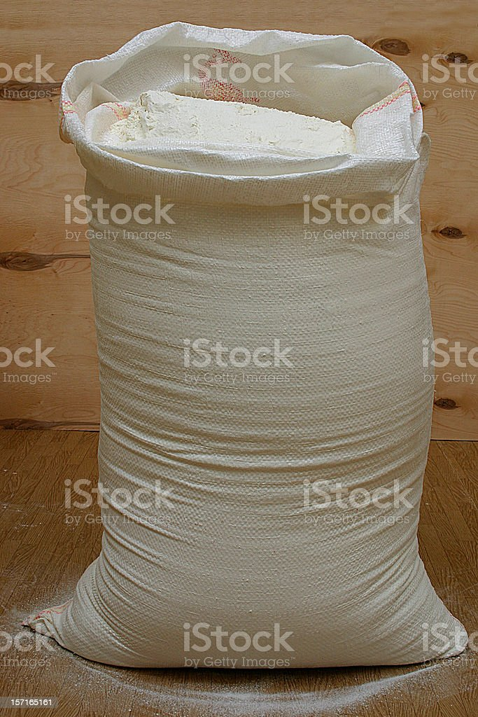 Bag with product royalty-free stock photo