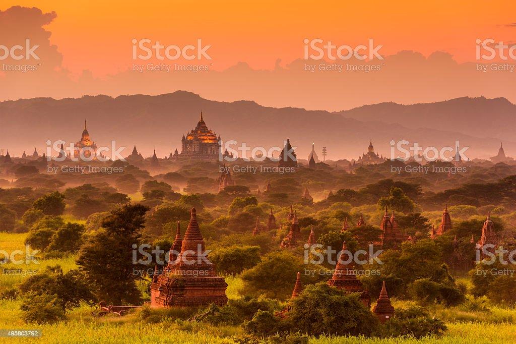 Bagan Archeological Zone stock photo