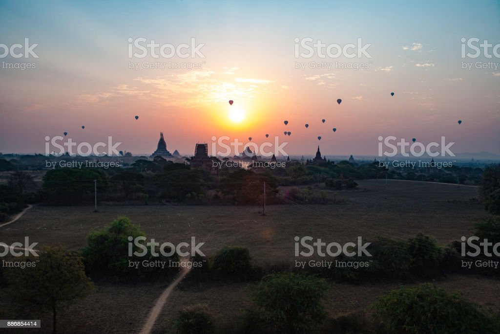 Bagan in Smoke stock photo