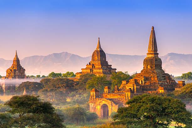 Bagan, Myanmar. Bagan at sunset, Myanmar. myanmar stock pictures, royalty-free photos & images