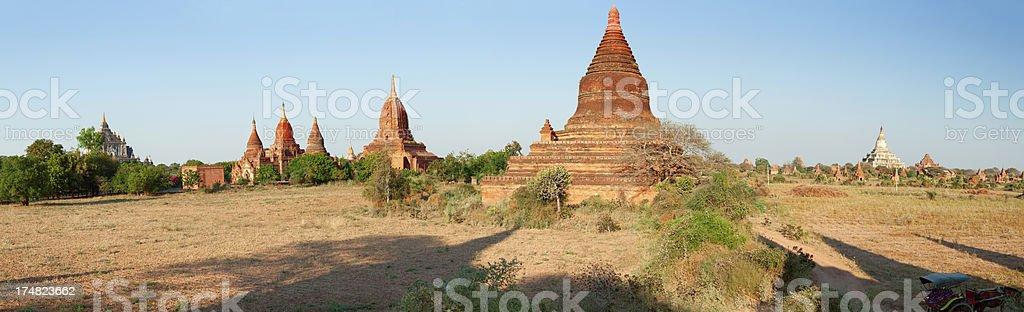 Bagan panorama, Myanmar royalty-free stock photo