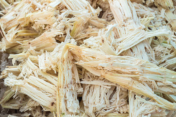 Bagasse Close up stack bagasse of sugarcane sugar cane stock pictures, royalty-free photos & images